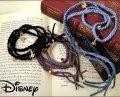 【限定生産品】[Disney/ディズニー]アリスチャーム付き紐ブレスレット/スワロフスキー/ラップブレスレット
