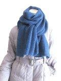 【秋冬ストール】男女兼用♪ソフトな温もりのウールタッチ♪シンプル格子織り模様大判ストール♪ 968