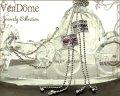 【VenDome】ワンチェーン式ラウンドネックレス★スワロフスキー★トップで調整可能