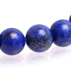 画像2: 【9月/12月の誕生石】高品質ラピスラズリブレスレット 8mm/10mm/12mm(瑠璃・天藍石)[内径約17〜18cm]