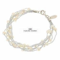 画像1: (ギフト推奨品)【花井幸子 YUKIKO HANAI】コットン&パールブレスレット ☆母の日 誕生日