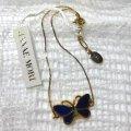 【HANAE MORI ハナエモリ】大人の女性に・・・華奢なチェーンに青いバタフライモチーフ ブレスレット