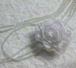 画像3: 【コサージュ付き】ベビーパールとクリスタルの3連ロングネックレス(結婚式 パーティ 母の日)