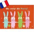 フランス製ポストカード(Wo steigt die Party?)