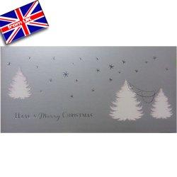 画像1: イギリス直輸入シルバークリスマスカード(message: ...AND A Happy NEW YEAR)