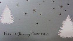 画像2: イギリス直輸入シルバークリスマスカード(message: ...AND A Happy NEW YEAR)
