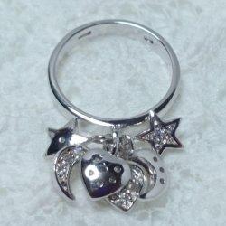 画像4: 【イタリア製】【SILVER925】デザインアクセサリー◆CZリング*Star & Moon & Heart motif*silver925キュービックジルコニア