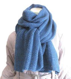 画像2: 【秋冬ストール】男女兼用♪ソフトな温もりのウールタッチ♪シンプル格子織り模様大判ストール♪ 968