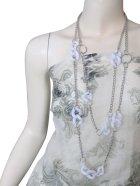 他の写真1: 【胸元を華やかに演出♪】チェーン&プラパーツ2連ロングネックレス