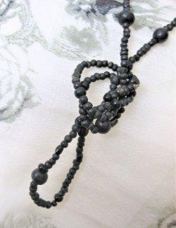 画像2: 【ロングネックレス】アジアンテイスト シンプルウッドビーズネックレス ブラック