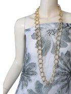他の写真1: 【胸元を華やかに演出♪】太目ゴールドチェーンのロングネックレス