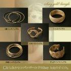 他の写真3: 【ゴールドデザイン大人アクセ☆手元をリッチに美しく!】3連ゴールドバングル