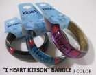 """他の写真3: 【Kitson】キットソン クリアバングル """"I heart Kitson"""" ブルー"""