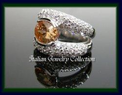 画像1: 【イタリア製】【SILVER925】デザインアクセサリー◆シルバー925 CZリング*Color Collection*