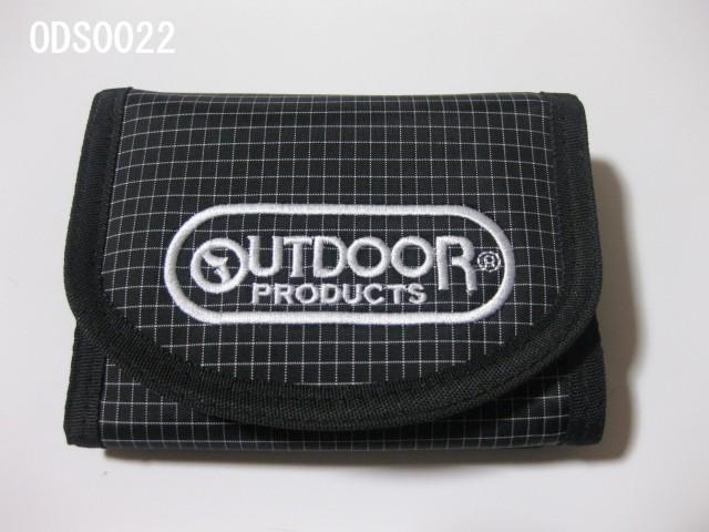 【30%OFF】【OUT DOOR】アウトドアでもタウンでもOK!三つ折財布《チェック》刺繍ロゴ ODS0022
